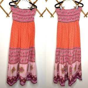 Speed Control boho strapless maxi dress